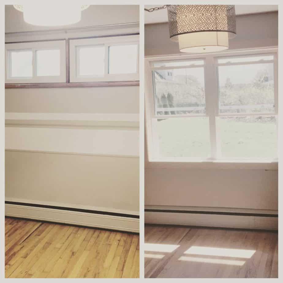 Window enlargement before & after