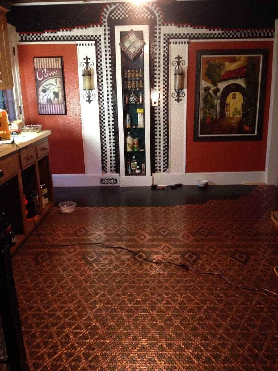 Patricia S Elegant Penny Kitchen Floor