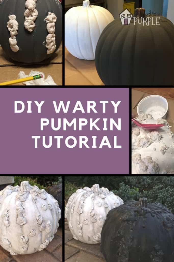 DIY Warty Pumpkin Tutorial
