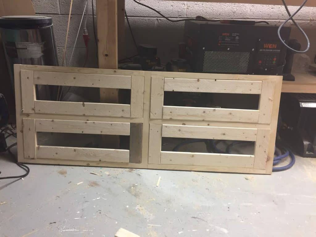 Attach wood to make a frame