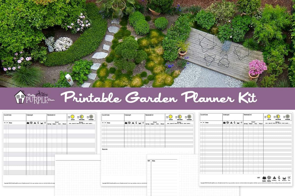 Printable garden planner kit