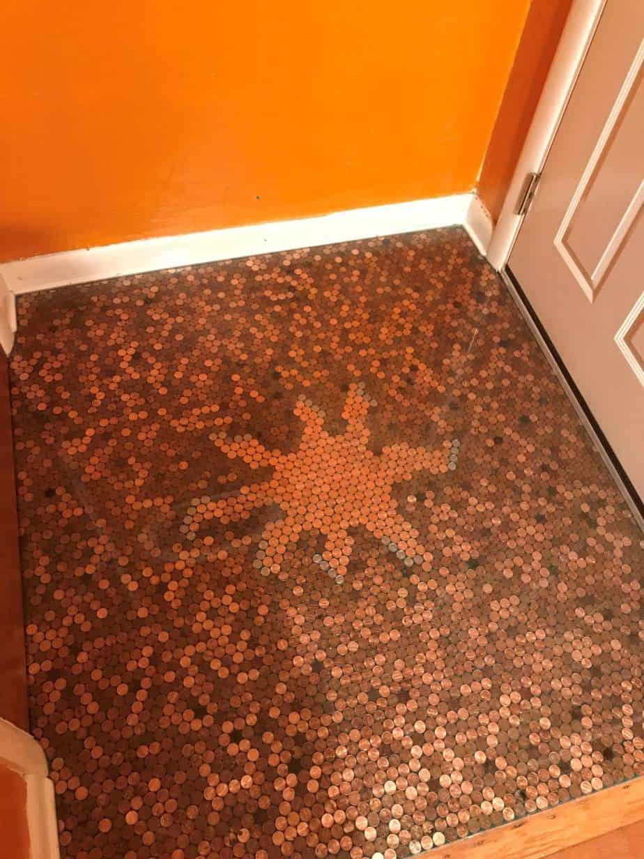 Michelle S Sunburst Penny Floor Pretty Purple Door