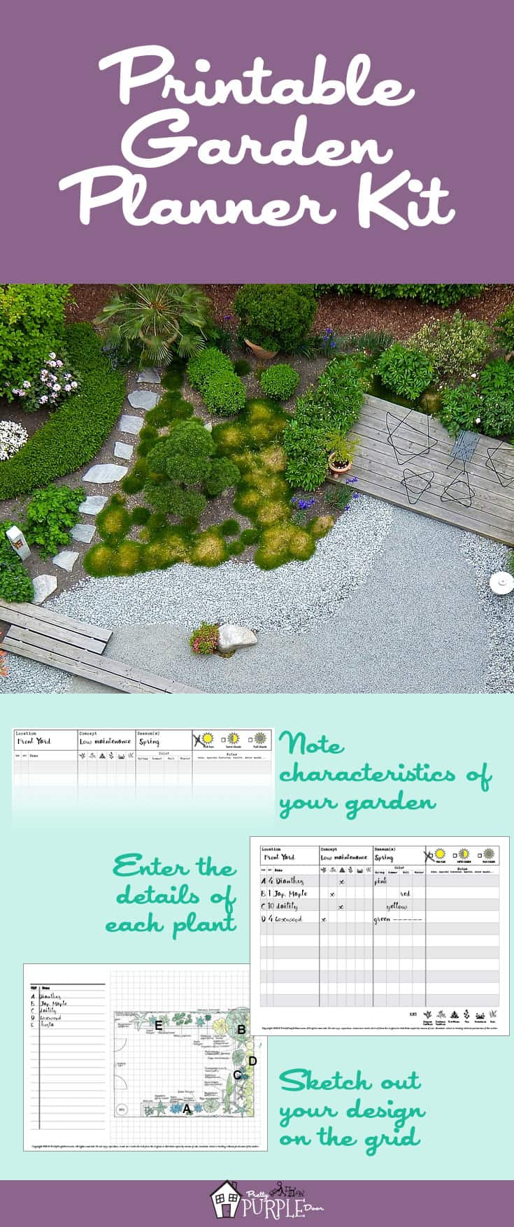 image regarding Free Printable Garden Planner titled Printable Yard Planner Package Incredibly Red Doorway