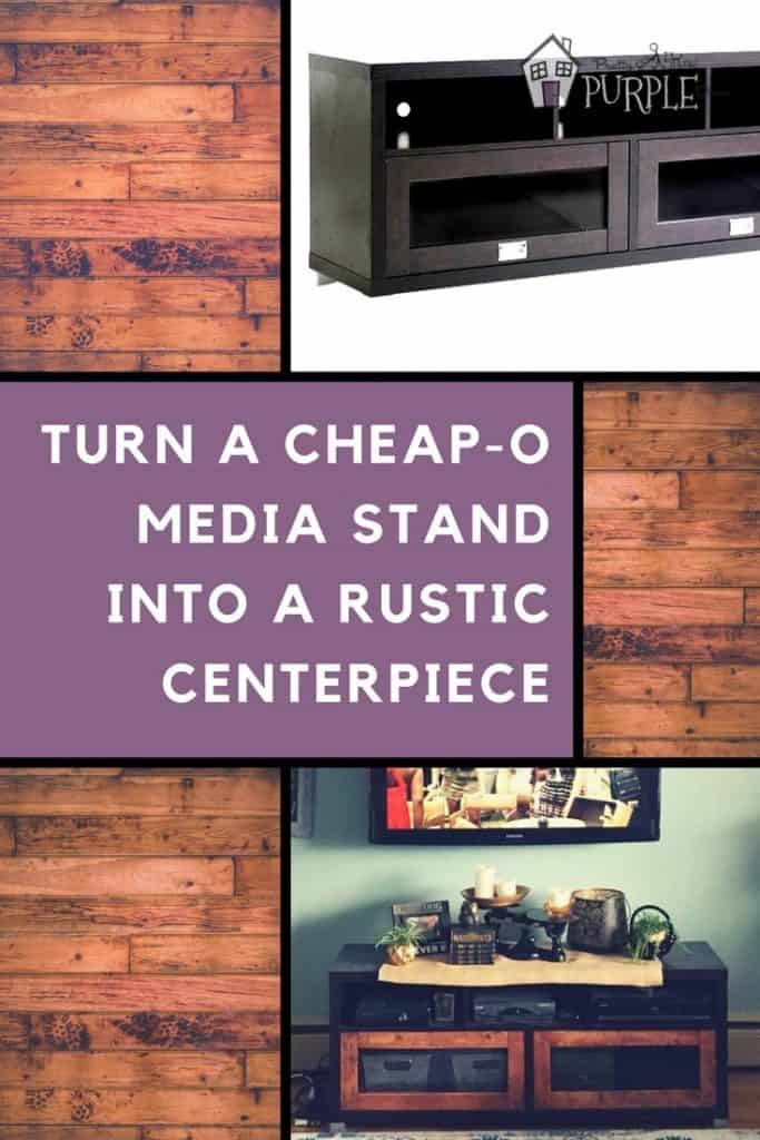 Rustic Media Stand Makeover