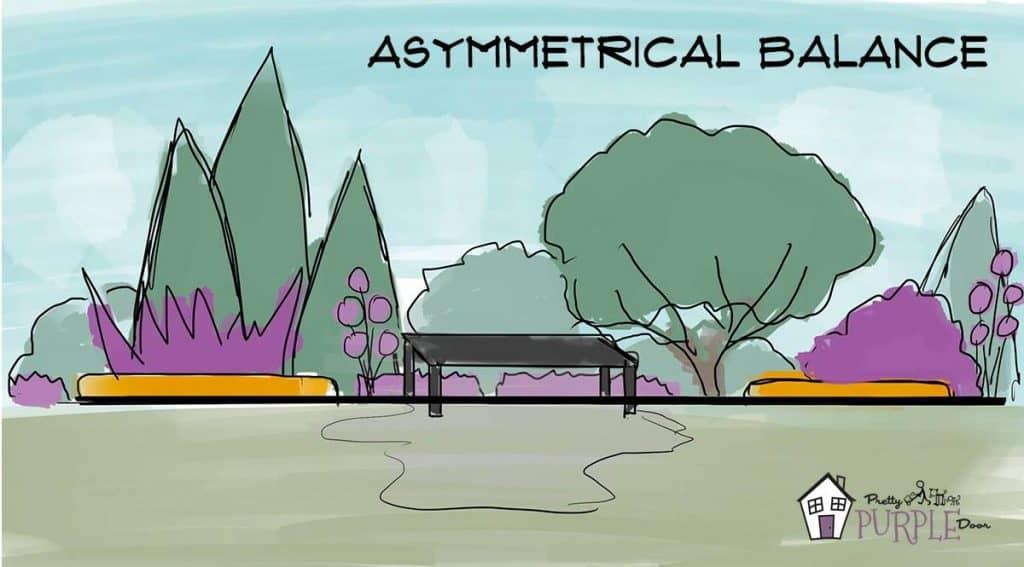 Asymmetrical Balance in Lanscape Design