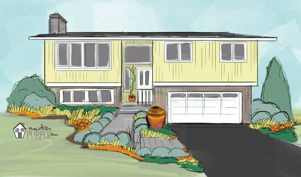 Balanced landscape illustration - after