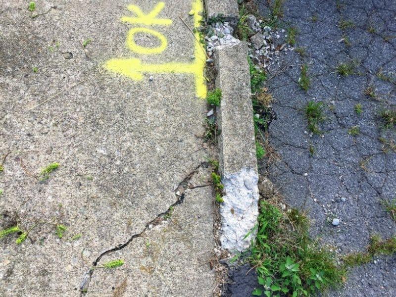 Brick paver walkway - Before photo