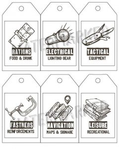 DIY build a fort kit tags and labels - printable
