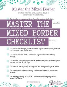 Cover of Master the Mixed Border Checklist Free Guide