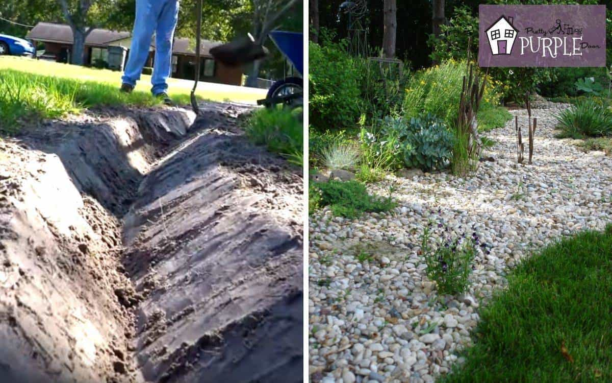 How To Install A French Drain In Your Yard Pretty Purple Door