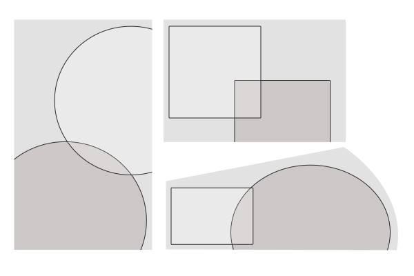 Draw interlocking shapes for your landscape design