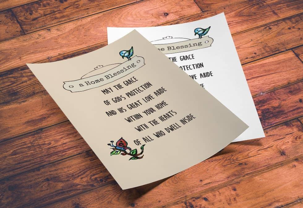 Printable Home Blessing, religious Poem