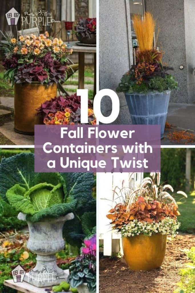 Grid with unique fall planter examples