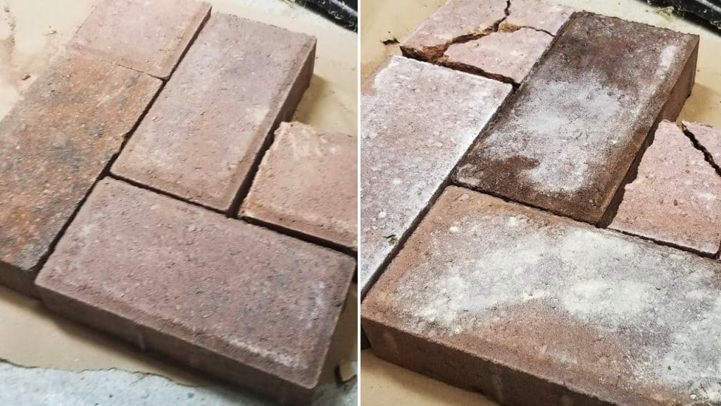 Faux Aged Brick Before and After