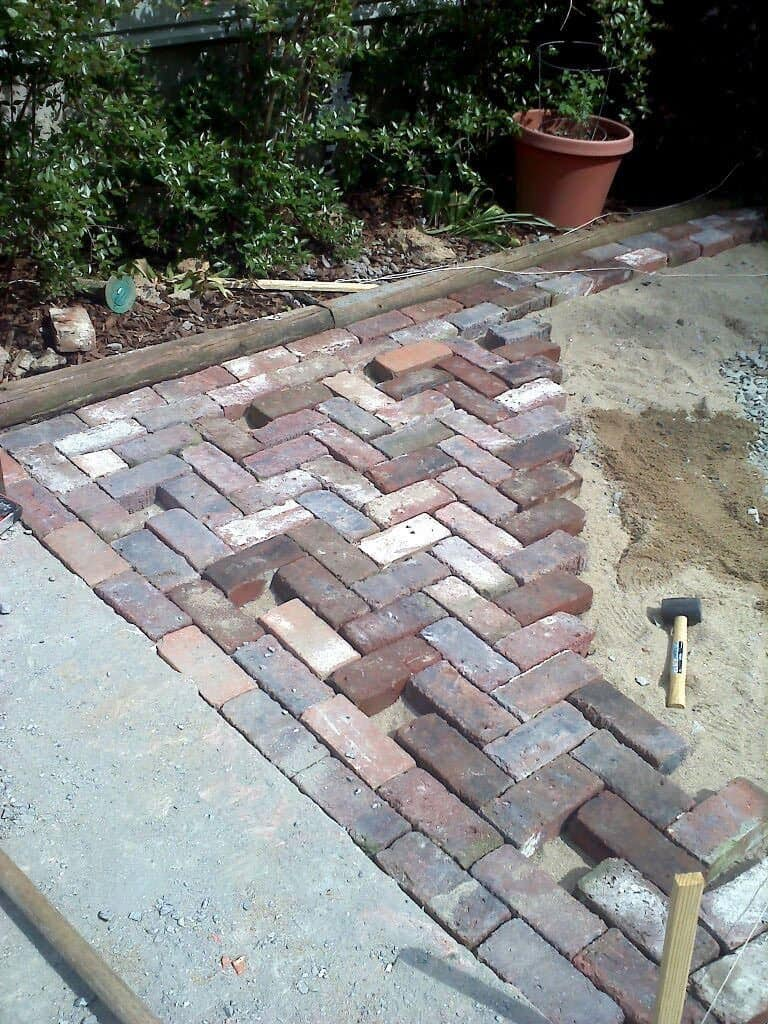 Faux Aged Brick Patio Inspiration Photo