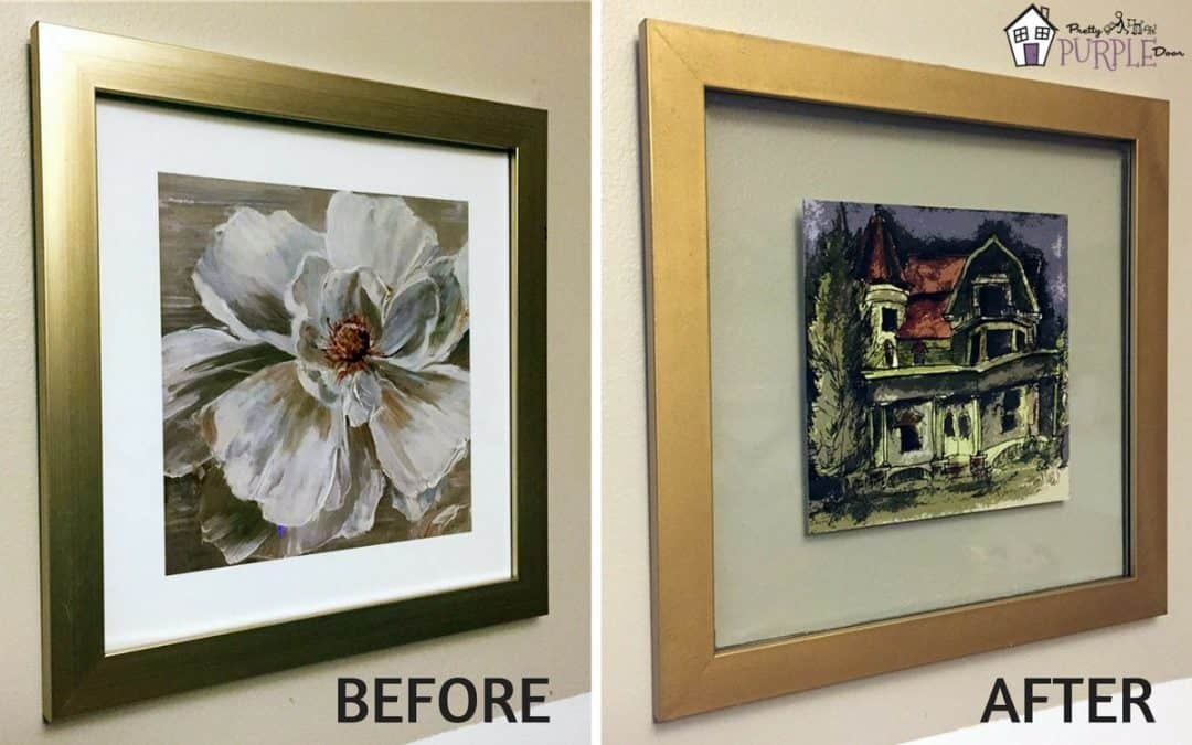 DIY floating glass frame from any picture frame
