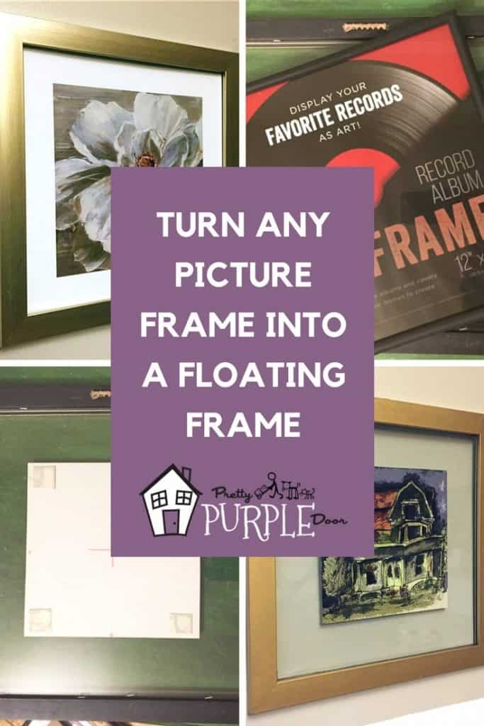 Make a floating glass frame from any picture frame Pinterest Image