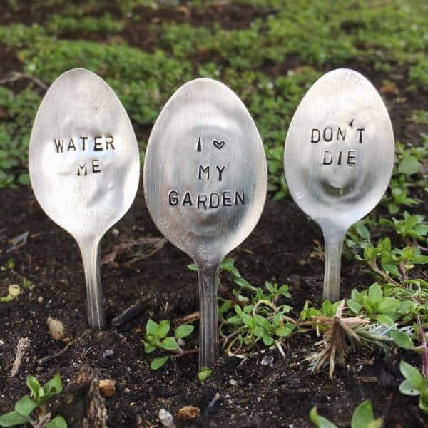 Stamped Spoon Plant Markers