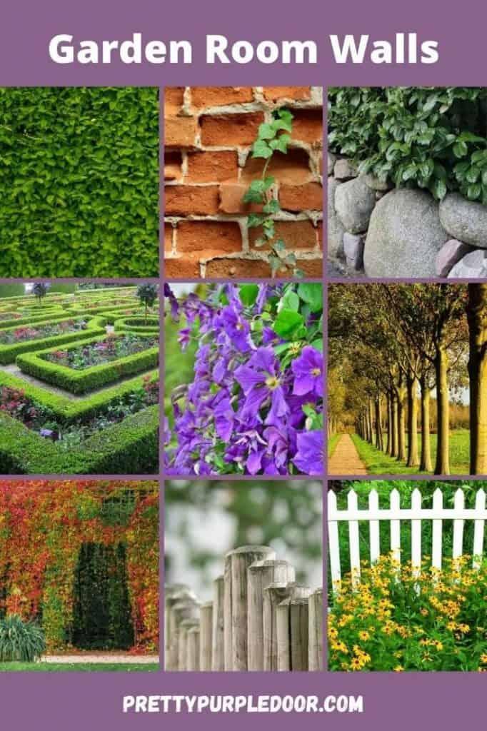 Garden wall ideas for garden rooms in a grid