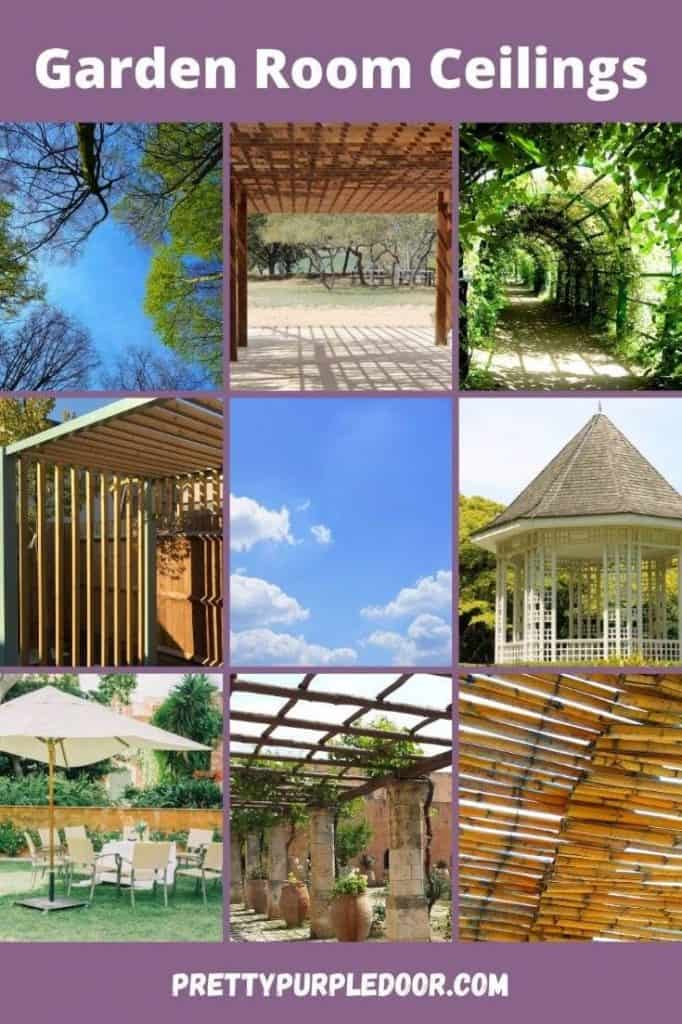 grid of different garden ceilings for garden room