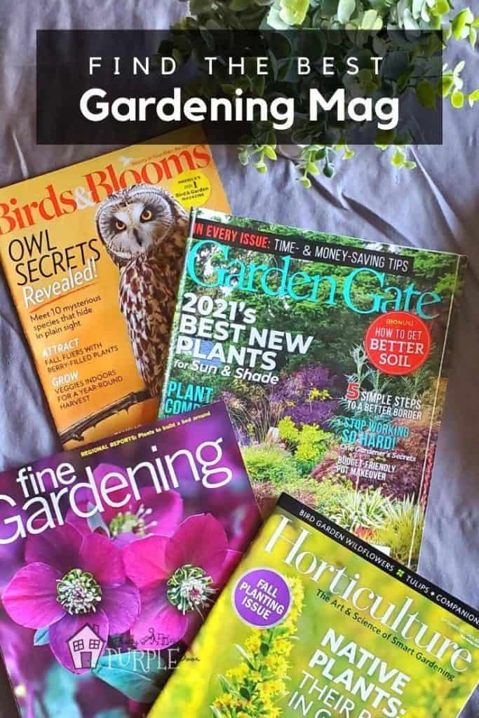 Gardening Magazines Compared