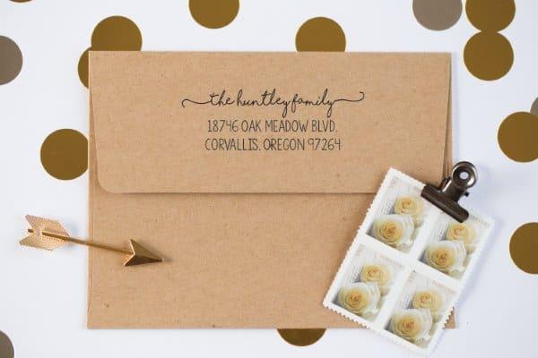 Custom Address Stamp Housewarming Gift