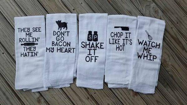 Funny Kitchen Towel Set Housewarming Gift