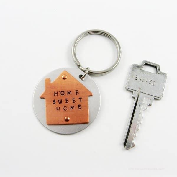 Home Sweet Home Keychain ousewarming Gift