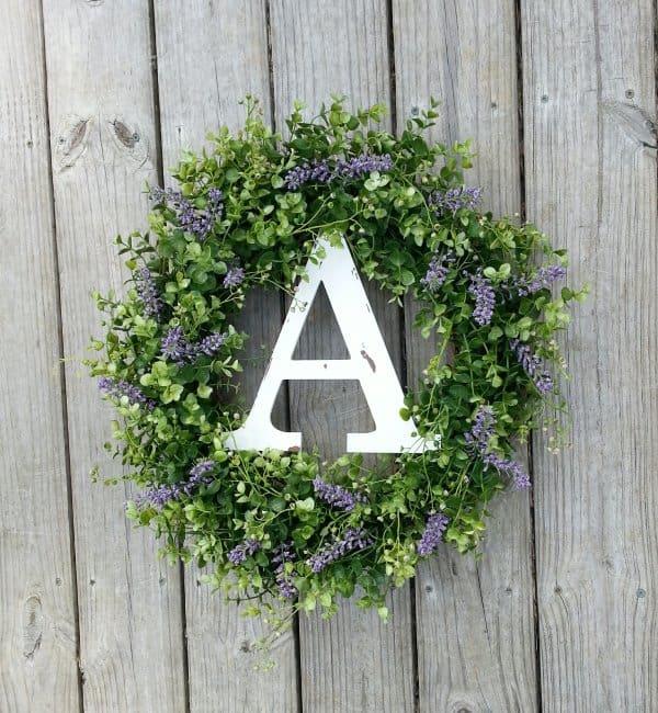 Monogrammed Wreath Housewarming Gift