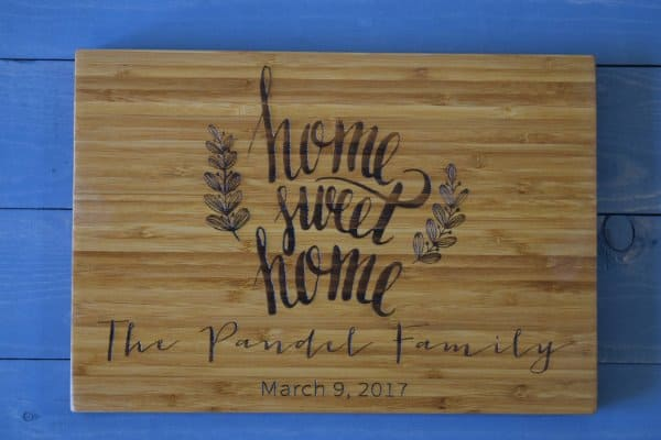 Personalized Cutting Board Housewarming Gift