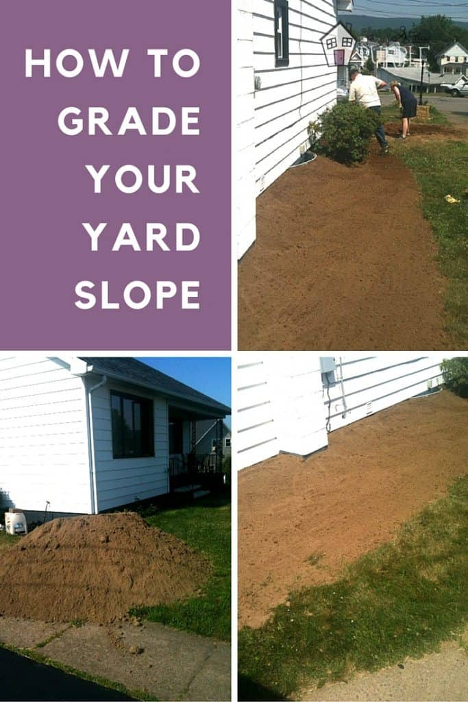 How to grade your yard slope