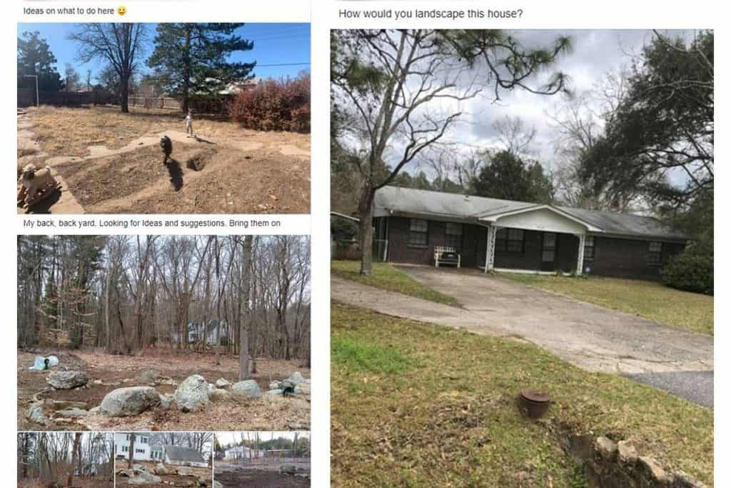 bad landscaping questions for facebook groups