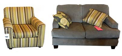Mix and Match Couch and Chair Pair