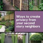 Soluzioni di privacy per il paesaggio del cortile in una griglia