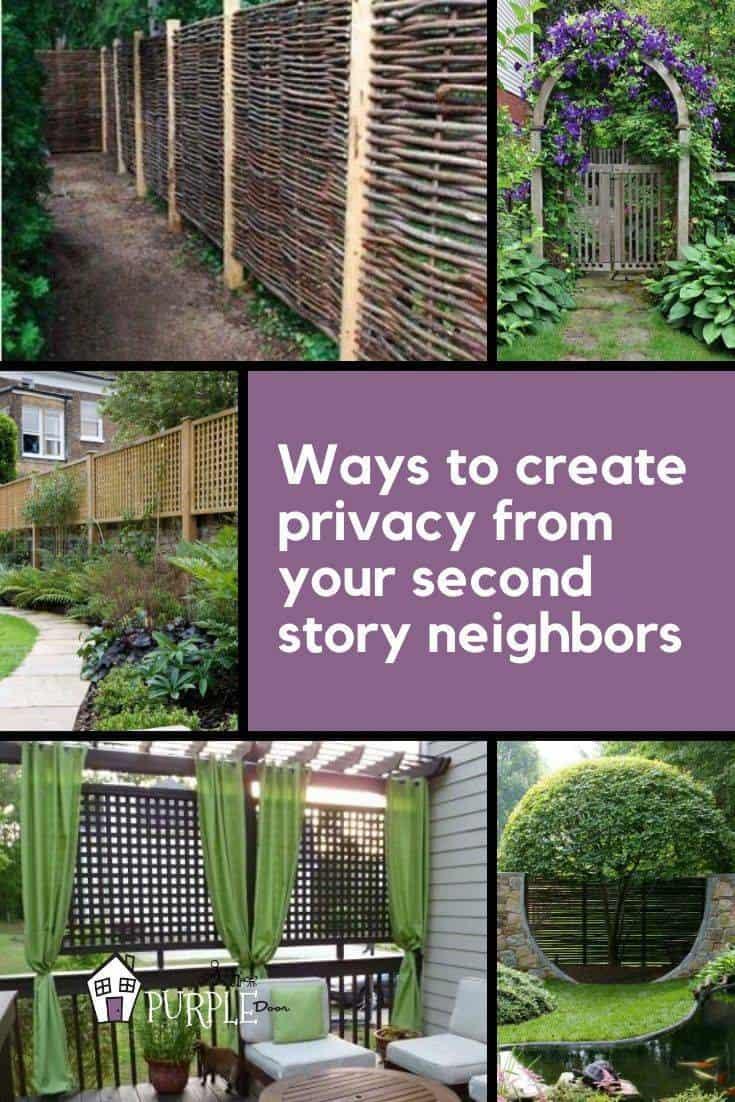 Come creare privacy dai tuoi vicini di secondo piano immagine pinterest