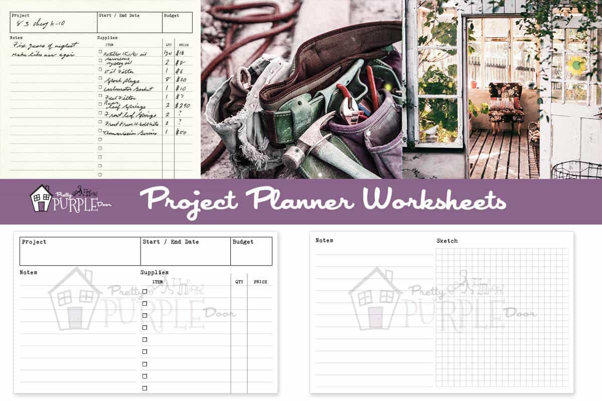 Printable project planner worksheets