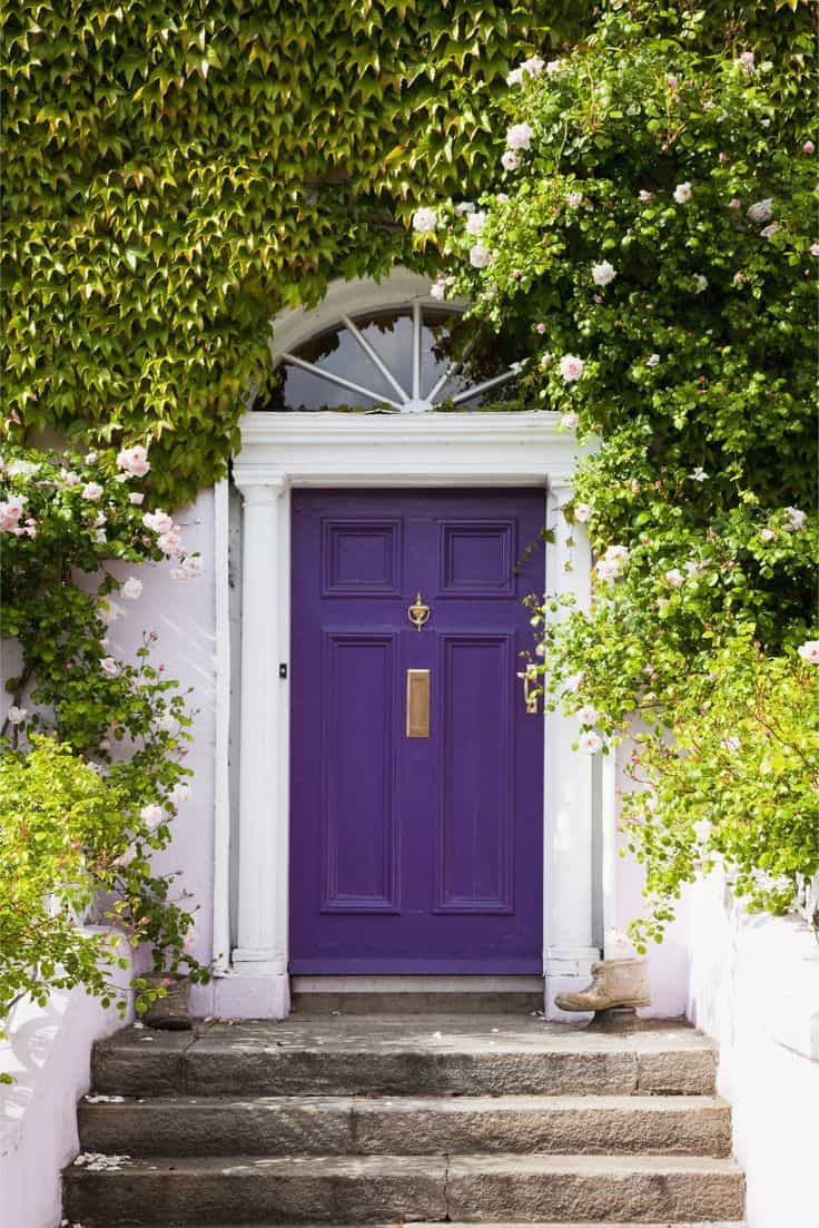 Could Fashionista 41D-4 be the most perfect purple to use for your front door?
