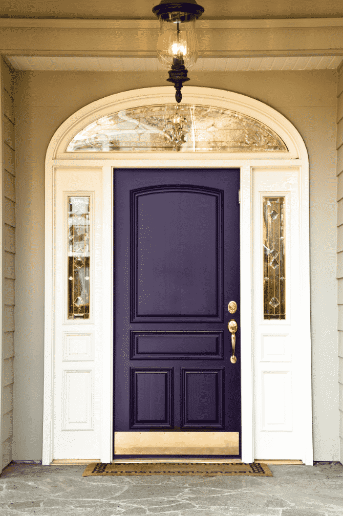 There's something regal and majestic about midnight purple as a front door.