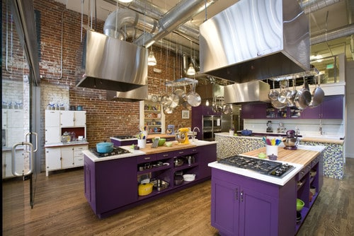 Passion plum on kitchen cabinets may not be your style, but how about on a front door?