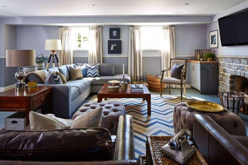Sarah Richardson Mix & Matched Furniture in Basement
