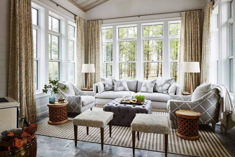 Sarah Richardson Mix & Matched Furniture in Sun room
