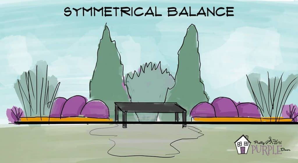 Creating symmetrical balance in your garden design