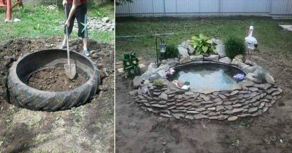 Tractor tire pond