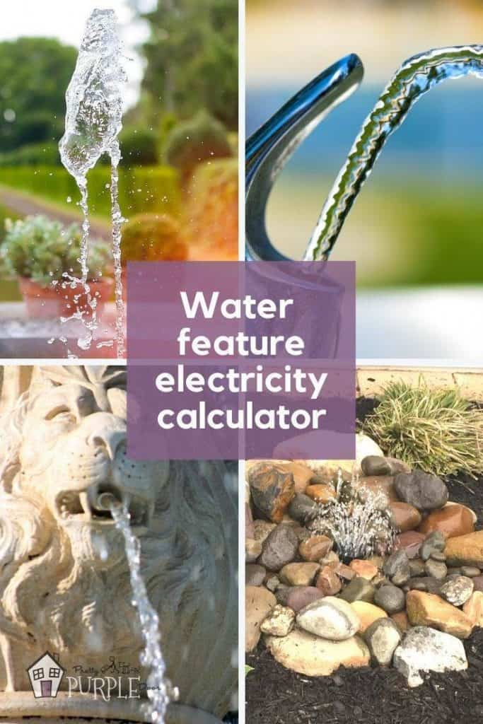 4 water features with text water feature electricity calculator