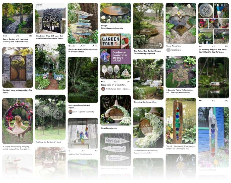 Gathering inspiration for a whimsical garden design
